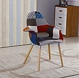 Con un enorme successo del nostro originale P & n patchwork casa sedie abbiamo ampliato la gamma con questo design. Essa ha struttura collegamento tra le gambe e parte superiore corpo in metallo solido. Ha 4gambe in legno. Ideale per: Sa...