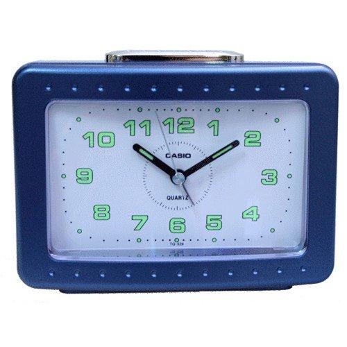 CASIO 10503 TQ-329-2DF - Reloj Despertador analógico Azul
