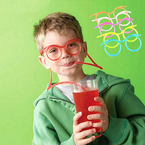 Ruby569y 6 Stück Trinkhalme für Party, kreative lustige flexible Gläser Trinkhalme Neuheit Kinder Party Supplies multi