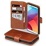 LG G6 Case, Terrapin [ECHT LEDER] Brieftasche Case Hülle mit Standfunktion Kartenfächer und Bargeld für LG G6 Hülle Cognac
