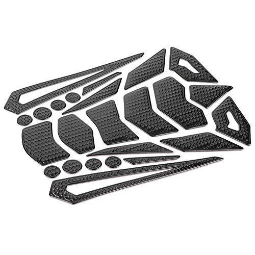 Schwarzes Motorrad-Schutzpolster-Abziehbild-Aufkleber-Gummi - Protektor Honda Tank