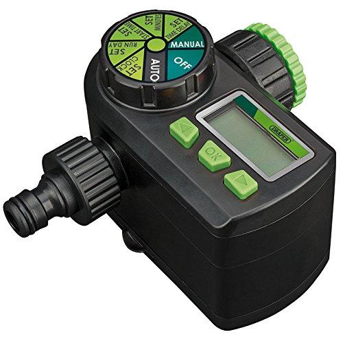 DRAPER 36750-Elektronischer Kugelhahn Wasser Timer-schwarz Draper Lcd