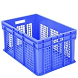 BITO–1.284Euro Container BN, stapelbar mit Wände Größe perforiert blau 31,5cm x 60cm x 40cm