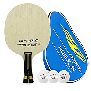 HUIESON ZLC 7 Layers of Wooden Mixed with Fiber Carbon Ping Pong