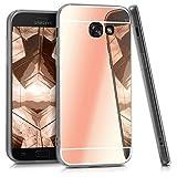 kwmobile Funda para Samsung Galaxy A5 (2017) - Carcasa Protectora [Trasera] de [TPU] para móvil en [Oro Rosa con Efecto Espejo]