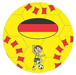 Jusplay Simba Generic Deflated PVC Play Ball, Yellow
