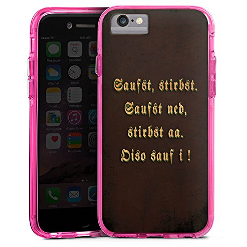 Apple iPhone 8 Bumper Hülle Bumper Case Glitzer Hülle Bayern Bavaria Saufen Bumper Case transparent pink