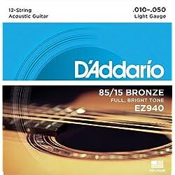 Set de cuerdas - D'Addario EZ940, Naranja