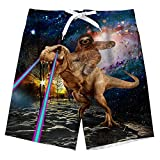 Garçon Maillot de Bain 3D Dinosaure imprimés Hawaïen Rapide sèche Swim Shorts...