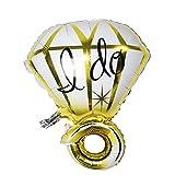 Demarkt Diamantring Alumium Ballon Party Accessoire Gold