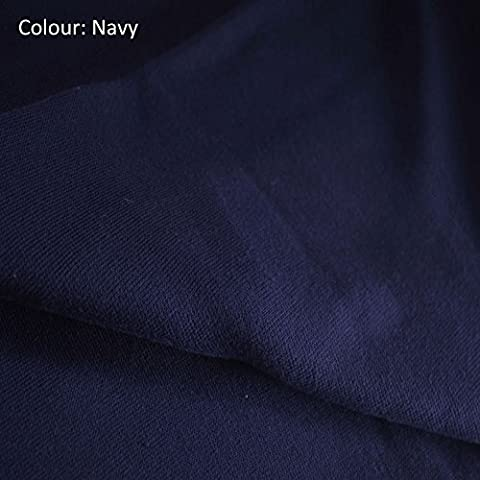 Neotrims Stretch Sweatshirt Rib Fabric, Knit Ribbing, Waistbands Cuffs. For Hoddies & Dressmaking. 10 colors Limited Quantities only at this price. Cotton Acrylic Poly Mix; Tubular fabric sold as 1 or 5 meters Wholesale price! - Navy - 1 Meter