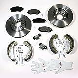 Autoparts-Online Set 60003867 Bremsscheiben/Bremsen + Beläge + Bremsbacken Set Vorne + Hinten