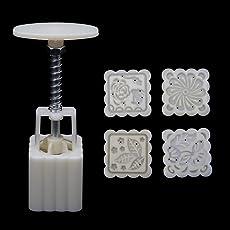 yaonow 4Flower Briefmarken Moon Cake mold-diy Gebäck quadratisch Mondkuchen Form Werkzeug 50g