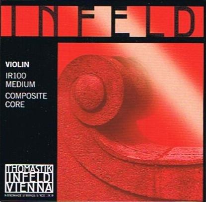 - Thomastik Infeld--Saite für Violinen-Set, 4/4 rot - Rot Violine Infeld E-saite