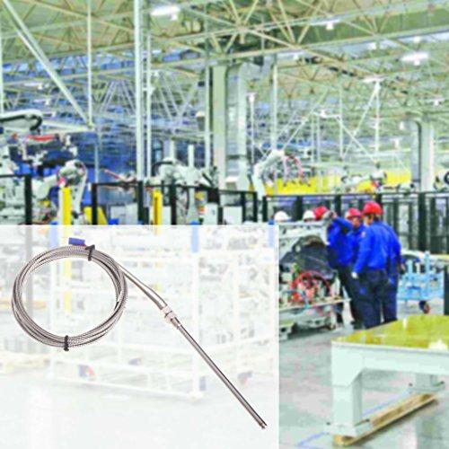 Qiman 3 mt / 10ft K typ Thermoelement 100mm Sonde Edelstahl Hochtemperatursensor -