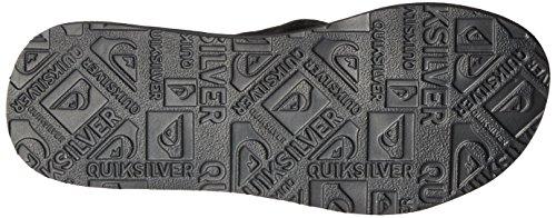Quiksilver Carver Suede Ar, Tongs Homme Grey/Black/Grey