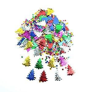Gifts 4 All Occasions Limited SHATCHI-847 - Confeti metálico para decoración de mesa (14 g), diseño de árbol de Navidad, multicolor