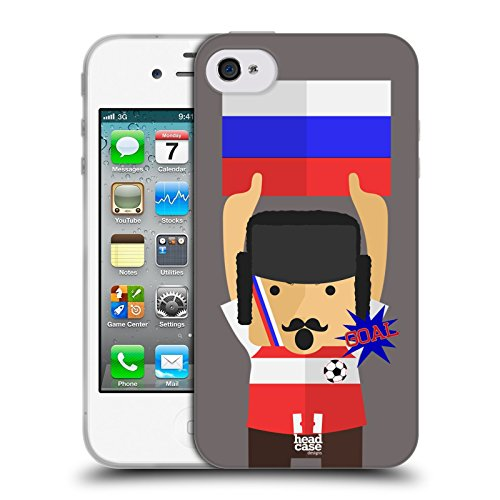 Head Case Designs Nigeria Viva Il Calcio Cover Morbida In Gel Per Apple iPhone 7 / iPhone 8 Russia