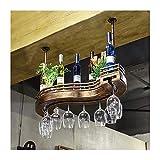 QXX Casier à vin en Verre Maison européenne créative casier à vin casier à vin Rack créatif Bar Suspendu Armoire à vin (Taille : L)