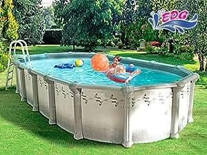 Kit piscine acier SOPRANO Luxe 5.49x3.66x1.32m EDG 103601