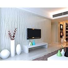ufengke Simple Moderno Grueso Color Puro No Tejido Rayas Papel Pintado Mural Para Dormitorio Sala de Estar, Muestra