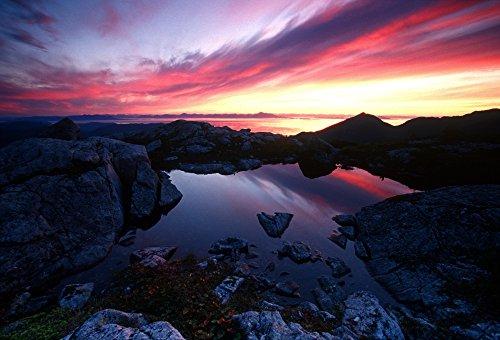 Chip Porter/Design Pics - Sunrise Over Pond Short Arm Peak Prince of Wales is Ak Se Summer Photo Print (81,28 x 55,88 cm) Prince Shorts