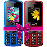 GLX W5, Basic Feature Mobile Phone, Combo Of 2 (Blue+Red)
