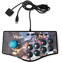 HITSAN USB Fight Arcade Joystick Gamepad Rocker Game Controller For PS3 Android PC [video Game]