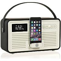 View Quest VQ-RETROMKII-BK Retro MKII DAB+ Radio mit Lightning-Dock, Bluetooth Schwarz