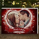 Image of Personello® Foto Adventskalender für Zwei mit Schokolade befüllt, personalisierter Weihnachtskalender mit Namen & Datum (Größe: ca. DIN A4)