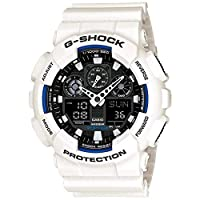 Casio G-Shock Watch For Men Quartz , Analog-Digital Display and Resin Strap GA-100B-7A