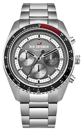 Ben Sherman Men's Analog Quartz Watch with Stainless-Steel Strap WBS108BSM