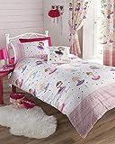 Ballerina Pink Single Duvet Cover and Pillowcase Set Bed Set Girl's Children's Bedding