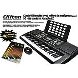 Clavier électronique LP6210C, USB, MIDI, 61 touches, dynamique de frappe, pitch bend, alimentation