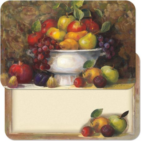 CounterArt wendbar Tisch-Sets, Obstschale 27,9 x 43,2 cm -