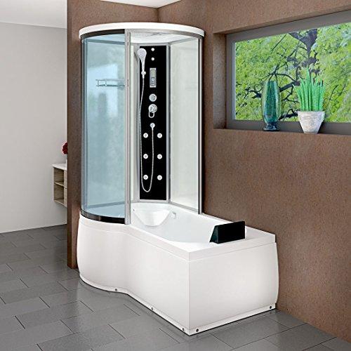 AcquaVapore DTP8055-A001R Wanne Duschtempel Badewanne Dusche Duschkabine 98x170, EasyClean Versiegelung der Scheiben:Nein! +0.-EUR