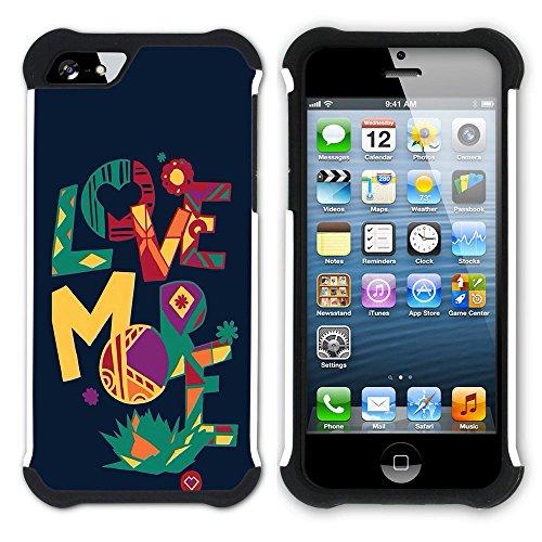 Graphic4You I Will love you Design Hart + Weiche Kratzfeste Hülle Case Schale Tasche Schutzhülle für Apple iPhone SE / 5 / 5S Design #17