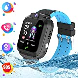 Montre Smart Watch Tracker pour Enfants - Smartwatches pour Enfants IP67 étanche 1.4' Ecran Téléphonique Chat Conversation Réveil,Montre Intelligente pour Enfants de 3 à 14 Ans(Black)