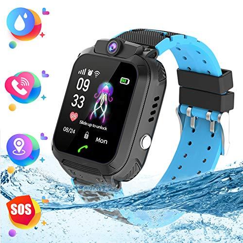 Negro Smartwatch Niños - Reloj de Pulsera Inteligente con Tracker con de...