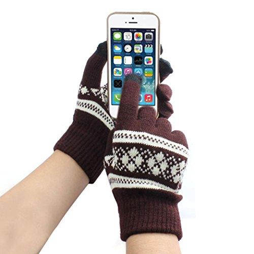 Kanpola Handschuhe Unisex Magic Touchscreen Handschuhe SMS Smartphone iphone Stretch Winter stricken (One size, (Was Kostüme Eins Mädchen Junge Und Und Was Zwei)