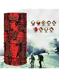 Rare Casque multifonctionnel Seamless Magic Scarf Headbands doux et confortable coupe vent instantané sec 10 pcs