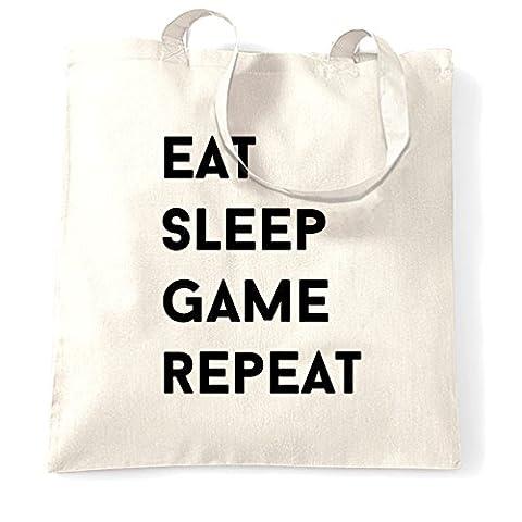 Essen Sie Schlaf-Spiel Hobby wiederholen Competitive Gaming RPG Arcade Indie Tragetasche (Xbox Weihnachten Spiele)