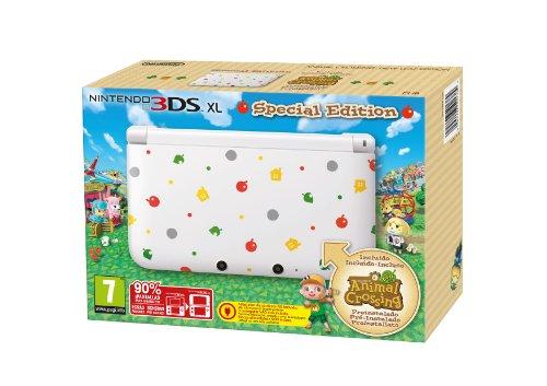 Nintendo 3DS XL - Konsole, weiß + Animal Crossing: New Leaf(vorinstalliert) - Special Edition  [ES-IT-PT Version]