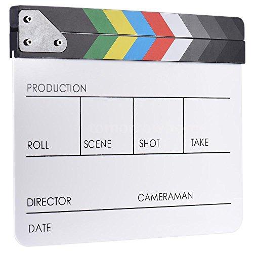 Slate Clapboard Film Slate Color Clap Stick Clapper Board (Movie Clapboard)