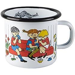 """Pippi Longstocking 2,5 dl """"de preparación de café"""" taza esmaltada, blanco"""