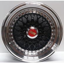 2x Alloy Wheels BBS RS Style 15x7.0 Black Greggson (GG-89-CC)