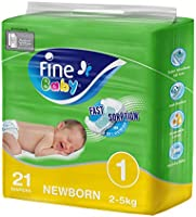 Fine Baby Diapers, Size 1, Newborn of 21 diapers