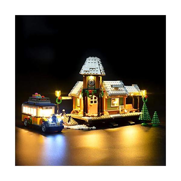 LIGHTAILING Set di Luci per (Creator Expert Stazione ferroviaria Invernale) Modello da Costruire - Kit Luce LED… 2 spesavip