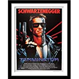 Tallenge - Terminator - Arnold Schwarzenegger - Hollywood Classic Movie Poster - Large Poster Paper Framed (Paper,20 x 30  inches, Multicolour)
