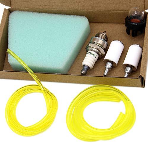 SWNKDG Kit Filtro Carburante Universale Tubo Benzina Tubo Filtro Aria Primer (2,5 x 5 mm 2 x 3,5 mm) per decespugliatore Trimmer Tagliaerba Decespugliatore Tagliaerba Benzina Motosega Motosega